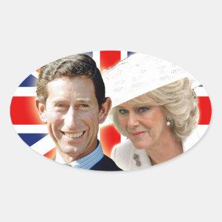 Príncipe Charles de HRH y duquesa de HRH de Pegatina Ovalada