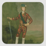 Príncipe Charles Edward Estuardo Calcomanias Cuadradas