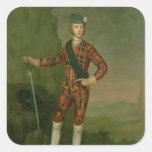 Príncipe Charles Edward Estuardo Pegatina Cuadrada