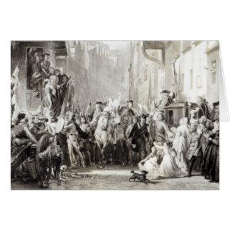 Príncipe Charles Edward y los montañeses Tarjeta De Felicitación