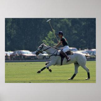 Príncipe Charles Playing Polo en Windsor Póster