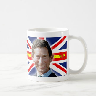 ¡Príncipe Charles Stunning de HRH! Taza Básica Blanca