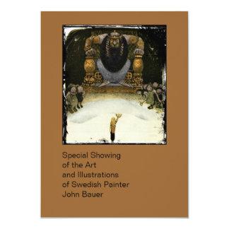 Príncipe con el rey del duende invitación 12,7 x 17,8 cm