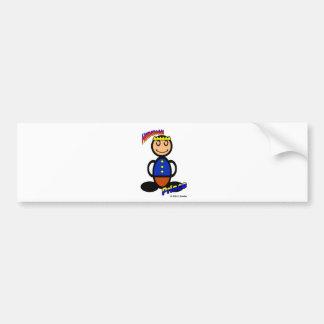 Príncipe (con los logotipos) pegatina de parachoque
