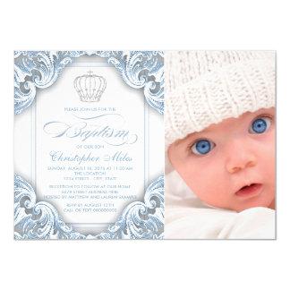 """Príncipe Crown Baptism de los azules cielos Invitación 4.5"""" X 6.25"""""""