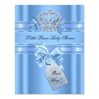Príncipe Crown Bow de los azules cielos del Invitación 10,8 X 13,9 Cm