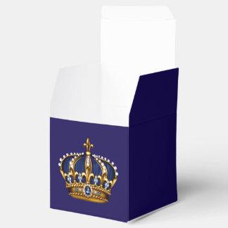 Príncipe Crown del azul real y del oro Cajas Para Regalos
