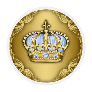 Príncipe Cupcake de los azules cielos y del oro