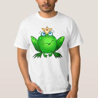 Príncipe Cute Green Cartoon de la rana Remeras