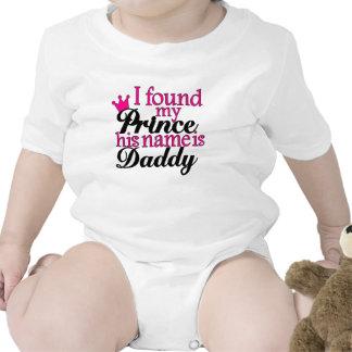 Príncipe Daddy Baby Loves Dad en rosa y negro - Trajes De Bebé