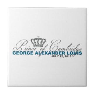 Príncipe de Cambridge George Alexander Louis Azulejo