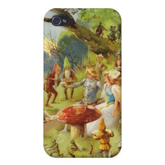 Príncipe de hadas y Thumbelina en el bosque mágico iPhone 4 Coberturas