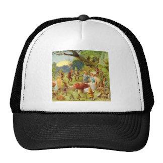 Príncipe de hadas y Thumbelina en el bosque mágico Gorras