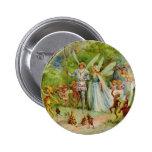 Príncipe de hadas y Thumbelina en la madera mágica Pin