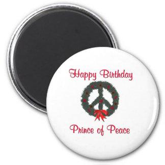Príncipe de la guirnalda de la paz imán redondo 5 cm