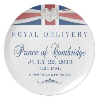 Príncipe de la placa 2013 del recuerdo de Cambridg Platos Para Fiestas