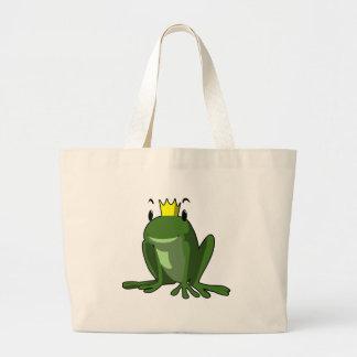 Príncipe de la rana bolsas lienzo