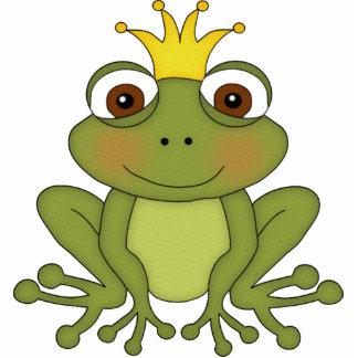 Príncipe de la rana del cuento de hadas con la cor fotoescultura vertical