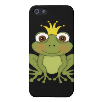 Príncipe de la rana del cuento de hadas con la cor iPhone 5 carcasas