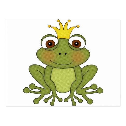 Príncipe de la rana del cuento de hadas con la cor postal