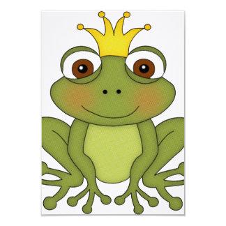 Príncipe de la rana del cuento de hadas con la invitación 8,9 x 12,7 cm