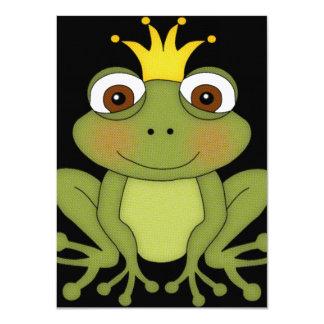 Príncipe de la rana del cuento de hadas con la comunicado personalizado