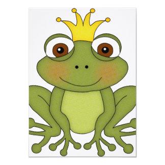 """Príncipe de la rana del cuento de hadas con la invitación 4.5"""" x 6.25"""""""