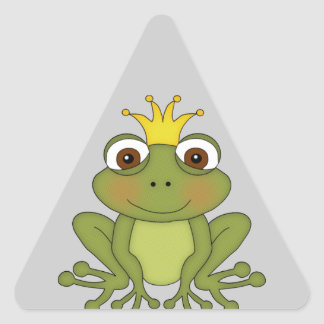 Príncipe de la rana del cuento de hadas con la calcomania de trianguladas