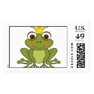 Príncipe de la rana del cuento de hadas con la sello