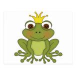 Príncipe de la rana del cuento de hadas con la postal