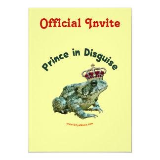 """Príncipe de la rana del sapo en disfraz invitación 5"""" x 7"""""""