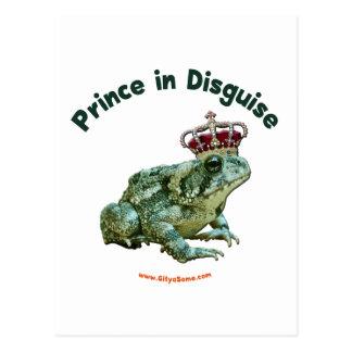 Príncipe de la rana del sapo en disfraz postales