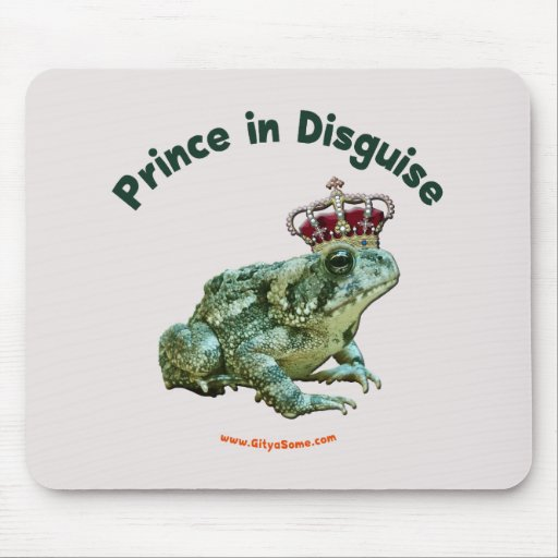 Príncipe de la rana del sapo en disfraz alfombrillas de ratón