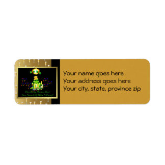 Príncipe de la rana etiqueta de remite