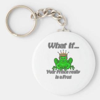 Príncipe de la rana llavero redondo tipo pin