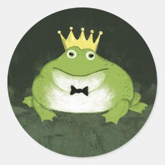 Príncipe de la rana pegatinas redondas