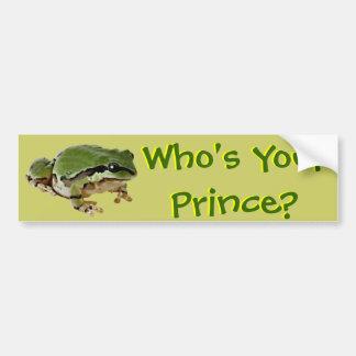 Príncipe de la rana pegatina para auto