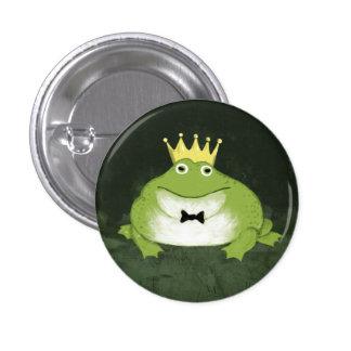 Príncipe de la rana pin redondo 2,5 cm