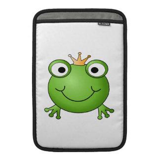 Príncipe de la rana. Rana feliz Funda MacBook