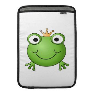 Príncipe de la rana. Rana feliz Fundas MacBook