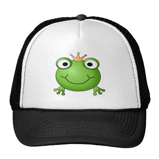Príncipe de la rana. Rana feliz Gorros Bordados