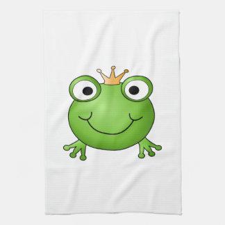 Príncipe de la rana. Rana feliz Toallas De Mano