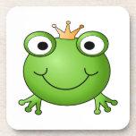 Príncipe de la rana. Rana feliz Posavasos De Bebidas
