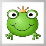 Príncipe de la rana. Rana feliz Posters