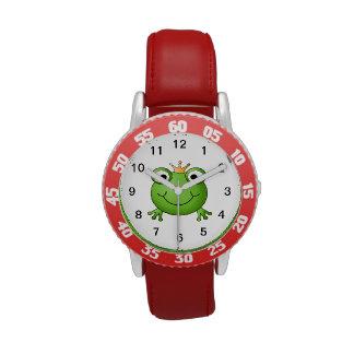 Príncipe de la rana Rana feliz Relojes De Mano
