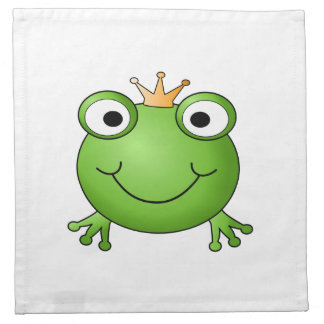 Príncipe de la rana. Rana feliz Servilletas De Papel