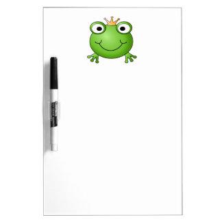 Príncipe de la rana Rana feliz Tablero Blanco