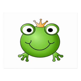 Príncipe de la rana. Rana feliz Tarjeta Postal