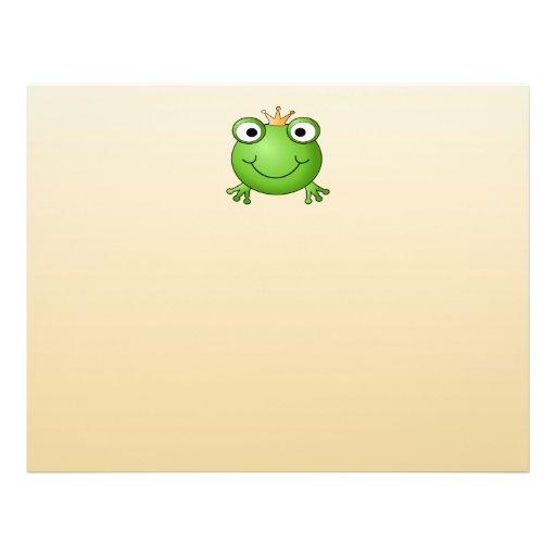 Príncipe de la rana. Rana sonriente con una corona Tarjetas Publicitarias