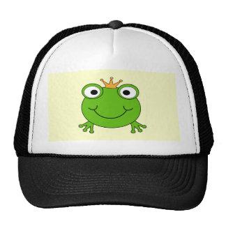 Príncipe de la rana. Rana sonriente con una corona Gorras De Camionero